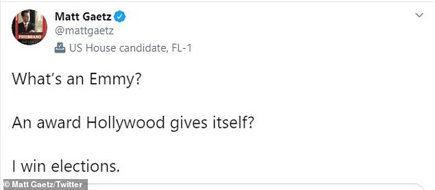 Then the Donald Trump defender insulted John's land victories: 'What is a land?  An award given by Hollywood itself?  I will win the election '