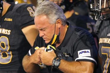 Southern Miss Coach Jay Hopson has resigned from a game during the 2020 college football season