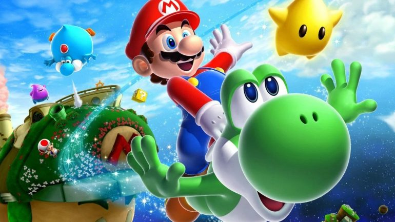 Random: Can you hear it?  Sounds like Super Mario Galaxy 2 music in 3D All-Stars