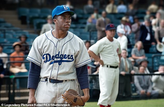 Epic: Chadwick starred as Jackie Robinson in the 2013 film 42