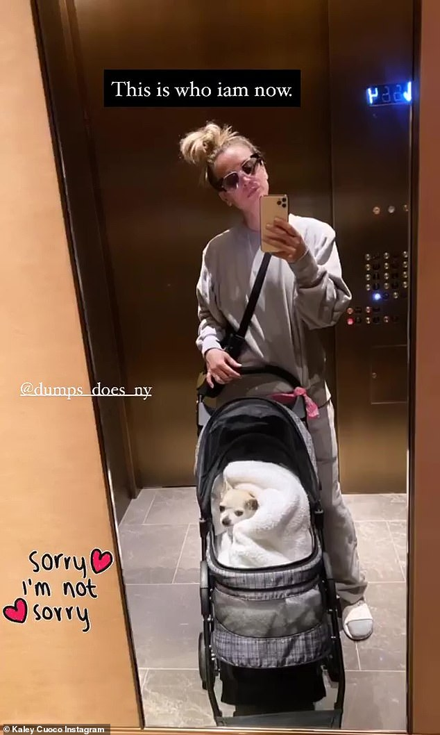 'Sorry, sorry': Kali is a well-known dog lover who recently started an Instagram account for Dumpy, 'Dumps Dues NY'; Seen on her Instagram story