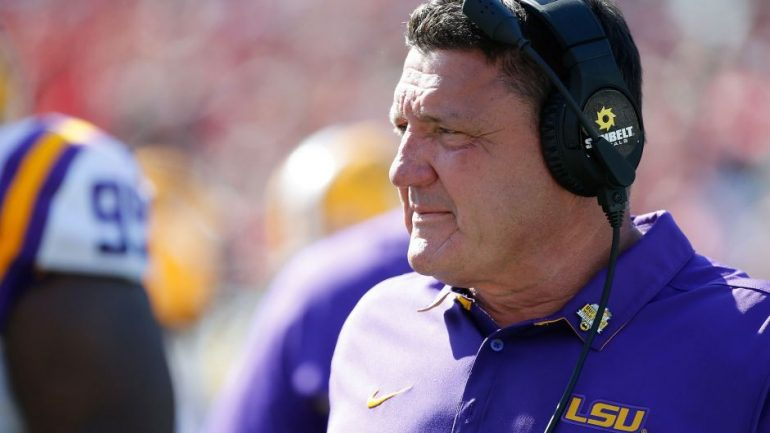 Ed Orgeron says the majority of LSU players are infected with the corona virus