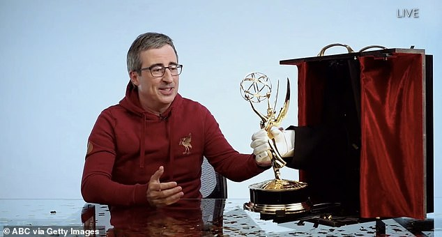 Last week night he won the Emmy Award for Best Variety Talk Series for the last five years in a row with John Oliver