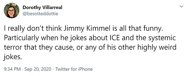 One person commented that jokes about ICE would stray from the 'systemic terror they create'.