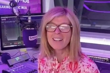 Kate Garvey suffered an eye injury on a radio show