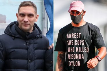 """Former F1 rival Vitaly Petrov has accused Lewis Hamilton's Briona Taylor and Black Lives Matter of being """"too much""""."""