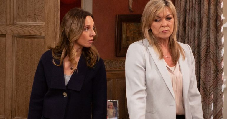 Kim Tate of Emerdale to kill Belle and Andrea while helping Jamie to get revenge?