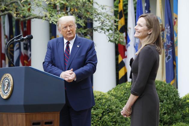 us-President-donald-j-trump-intriduces-Judge-amy-coney-barrett-r-as-his