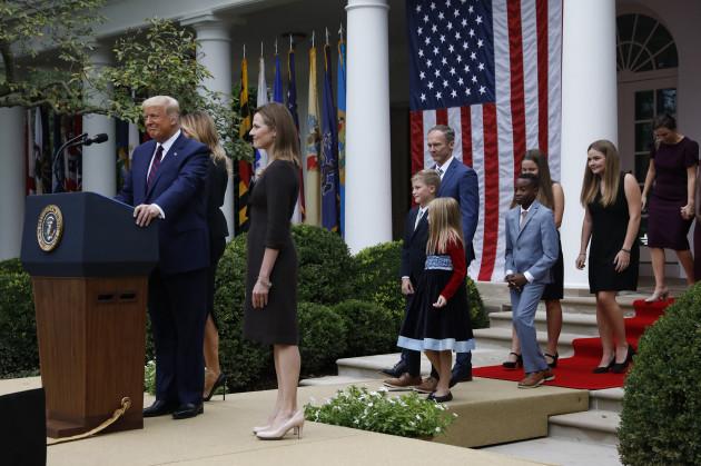 Presented by Donald-Trump-Judge-Amy-Connie-Barrett-Washington