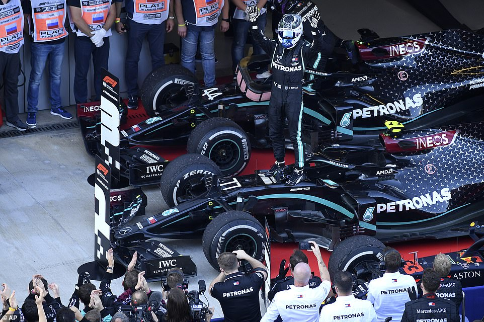 Voltaire Botas took advantage of Hamilton's mistake to maintain his slim hopes of winning the World Championship.