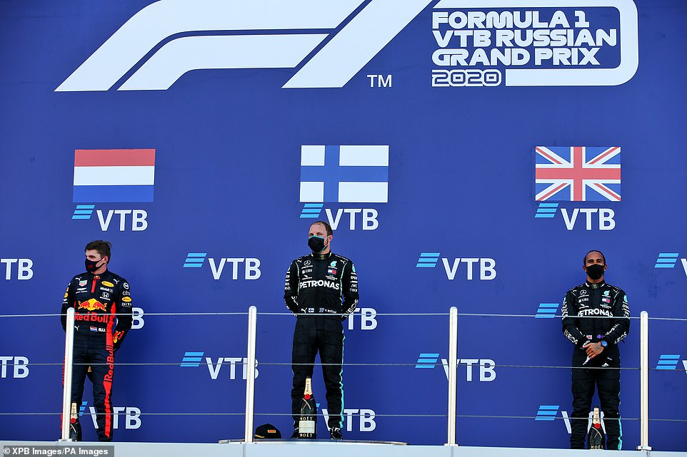 Botas beat Red Bull's Max Verstappen and Mercedes team member Hamilton