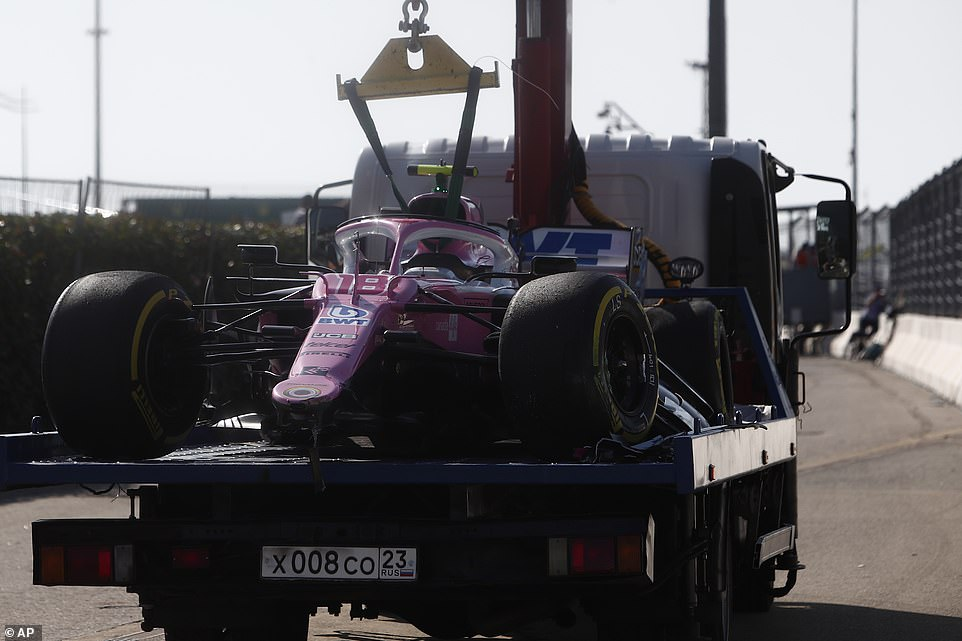 The Lance Stroller at Racing Point was also involved in the first lap crash that the safety car in Sochi did.