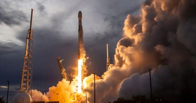 Historic SpaceX rocket to launch more Starlink satellites scrubbed Monday