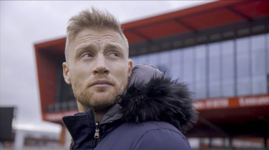 Warning: Prohibited for publication until 00:00:01 on 22/09/2020 - Program name: Freddie Flintoff: Living with Bullimia - TX: 28/09/2020 - Episode: Freddie Flintoff: Living with Bullimia (number n / a) - Image Exhibitions : Freddie at Lancashire Cricket Home Ground, Emirates Old Trafford Freddie Flintoff - (c) South Shore - Photographer: n / a