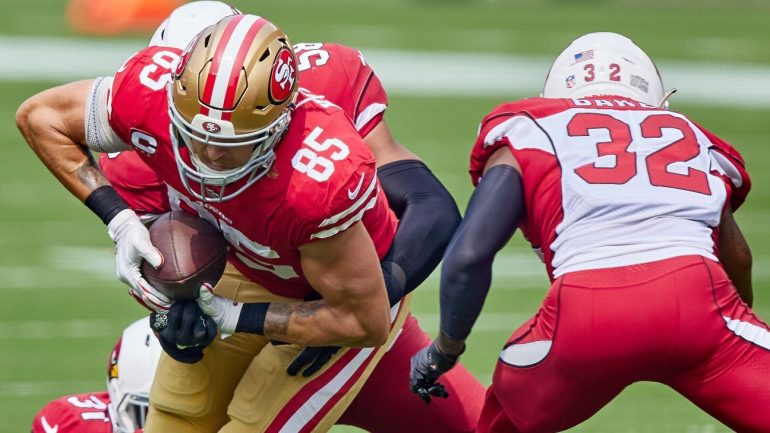 49ers TE George Kittle vs. Jets with a sprained ankle