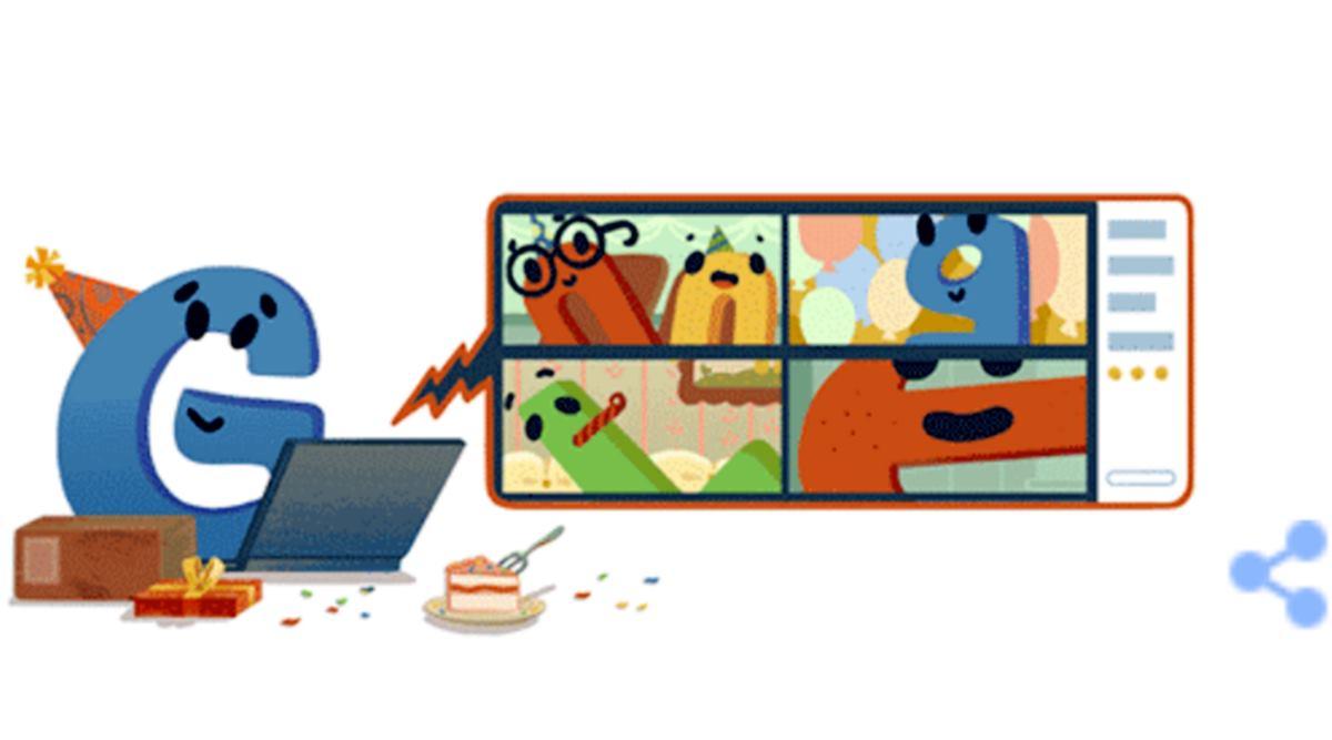 Google Doodle, Google Birthday Doodle, Google, Google 22nd Birthday Doodle, Google 22 Year Doodle, Google, Trending, Indian Express, Indian Express News