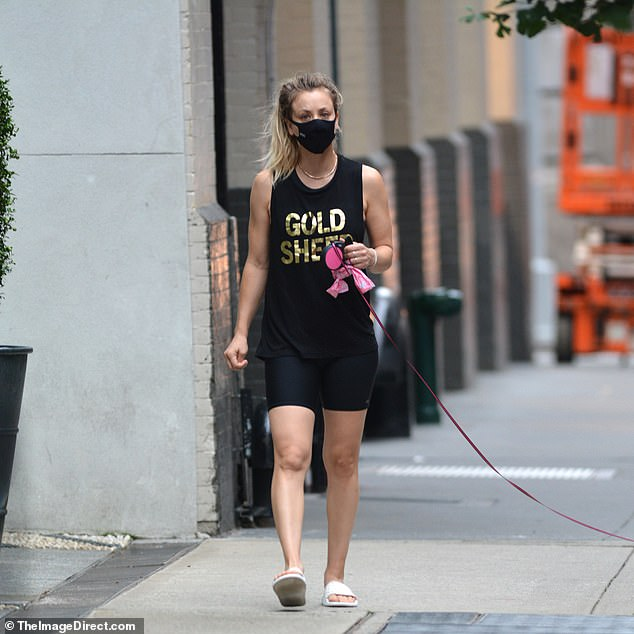 Newcomer: On Tuesday in New York City, Kali Kuko was found to be the mother of a dotting dog while walking with her adopted senior cat Dumpy.
