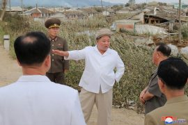 Kim Jong Un fired a high-ranking official during a tour of the hurricane-affected areas