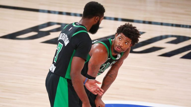 The Boston Celtics locker room was disappointed after losing the Miami Heat