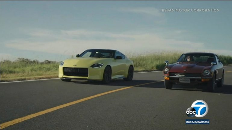 The new Nissan Z sports car pays homage to the original Datsun 240Z