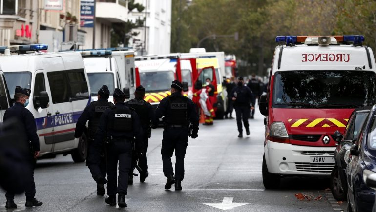 Two people have been arrested after a knife attack in Paris