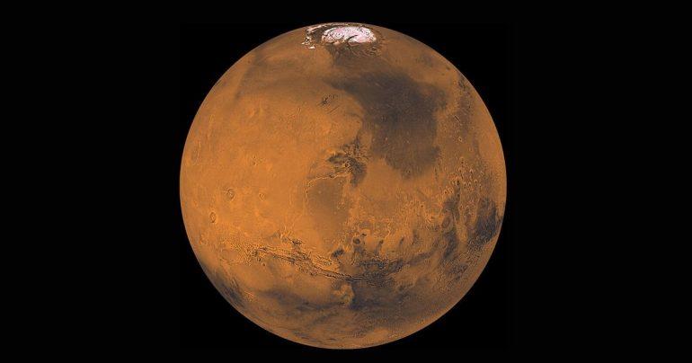 'Ed Azner' smiles at NASA Mars Orbiter Impact crater