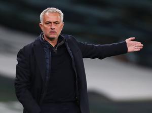 Tottenham manager Jose Mourinho Pool.  Photo: Reuters