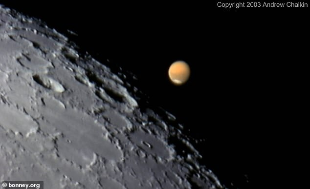 ET starts at 11:35 pm on Friday, October 2, and the closest approach can be seen shortly after midnight.  The incident took place in 2003.  The powerful telescope was able to capture an image of the lunar surface.