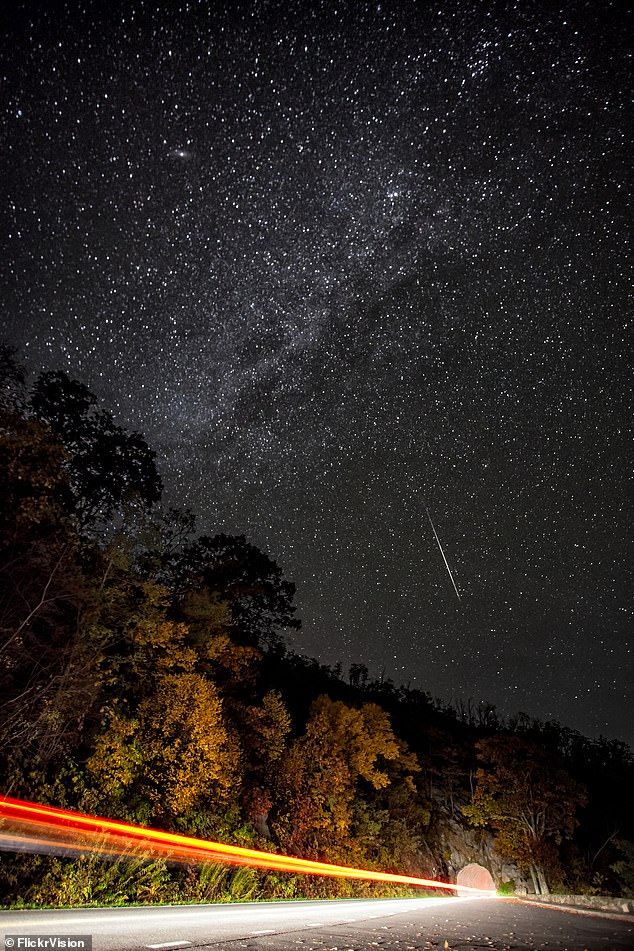 October is a universe of wonder as stargazers prepare for a feast this month as hundreds of shooting stars light up the sky during the Orionid meteor shower.  These meteorites fly through the sky every October 2 to November 7 - but most are expected to be seen on the morning of October 21st.  The 2012 shower is filmed