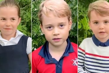 Fans George, Charlotte and Louise speak on camera as they question David Attenborough