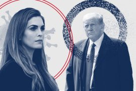 Donald Trump and his aide Hope Hicks