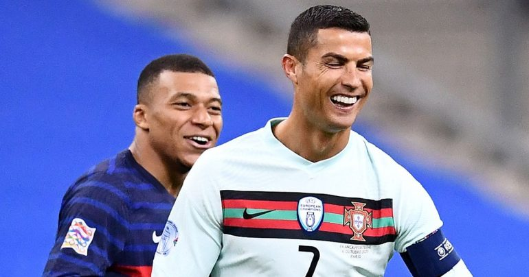 Cristiano Ronaldo responds to Kylian Mbabane's message after the Nations League meeting