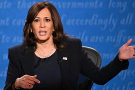 Kamala Harris has suspended in-person events until Monday