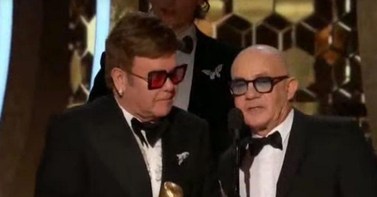Bernie Toppin mocks Rod Stewart during Rocker's feud with Sir Elton John