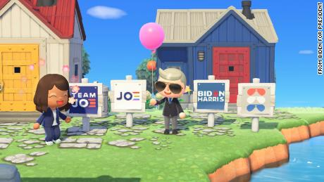 & # 39;  Animal Crossing & # 39;  Players can decorate their virtual yards with Joe Biden promotional symbols