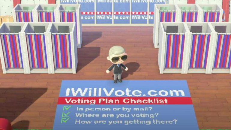 Animal Crossing: Joe Biden owns an island where you can learn about his campaign.