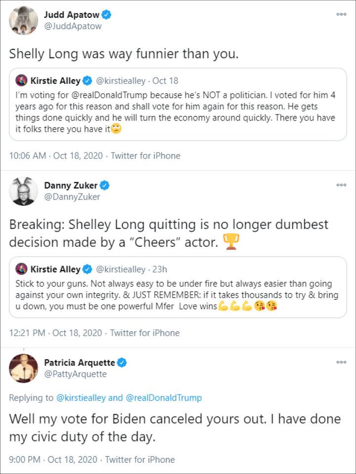 Kirsty Allie's tweet