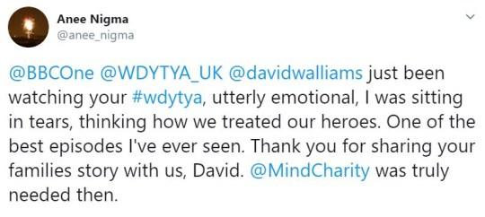 David Waliams Who do you think you are?