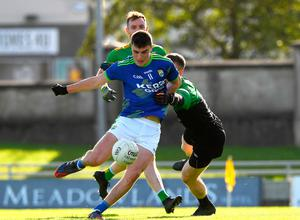Kerry's Sean Ozia scored his first goal of the season, beating Donegal goalkeeper Shaun Patton during the Alliance Football League Division 1 clash at Austin Stack Park in Trolley.  Photo: Matt Brown / Sports File