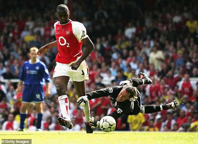 Some pundits and experts have compared the party to former Arsenal captain Patrick Vieira (left).