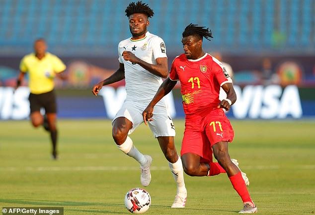 The now $ 45 million midfielder (left) has begun a career in his hometown of Ghana.