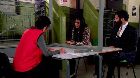 Yasmeen Metcalfe, Alia Nazir, Imran Habib on Coronation Street