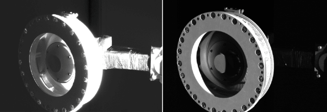 Osiris-Rex's Touch and Go Sample Acquisition Mechanism (TAGSUM).  (Photo credit to NASA / Goddard / University of Arizona.)