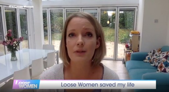 Image: Watch ITV Emotional Moment Loose Woman Viewer reveals that the show's Breast Cancer Discussion Saved Her Life. Rebecca