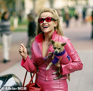 Appearance: Laura chooses the look Elle Woods wore when she arrived at Harvard (Reese Witherspoon in the 2001 film)