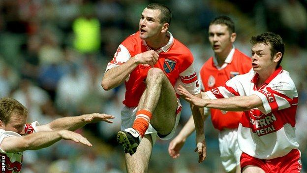 Steven MacDonald scored a shot for Armag in the 2000 Ulster final.