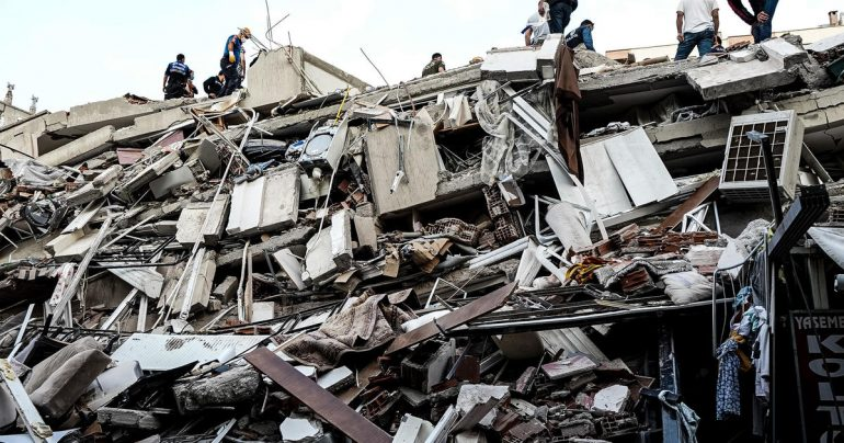 A strong earthquake has killed at least 19 people in Turkey and Greece