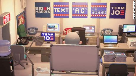 A field office at Biden's headquarters, on Joe Biden's Island & quot;  Animal Crossing.  & Quot;