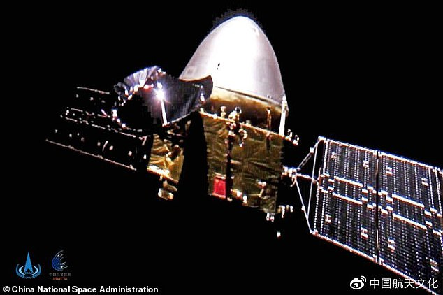 China has released the first selfies taken by the Chinese spacecraft Tianwen-1, which is currently traveling to the Red Planet, as part of the country's first Mars exploration.