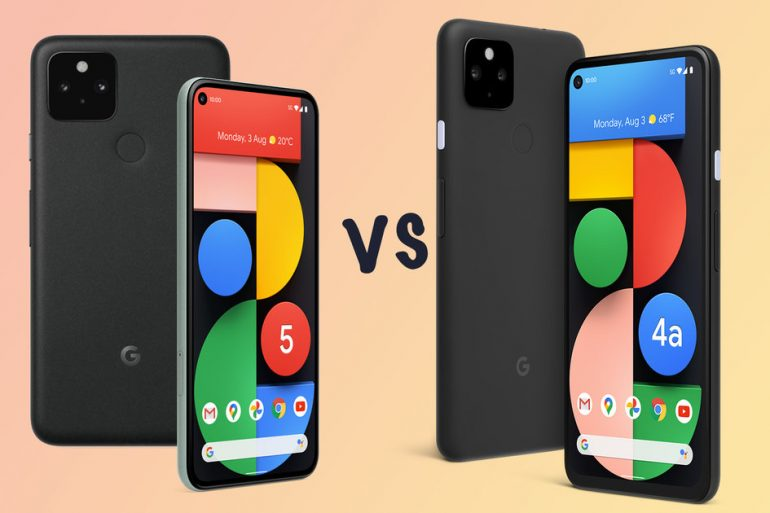 Compared to Google Pixel 5, Pixel 4A 5G and Pixel 4A